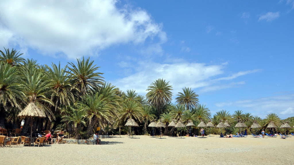 The famous Vai Palm Tree Beach in Lasithi Crete