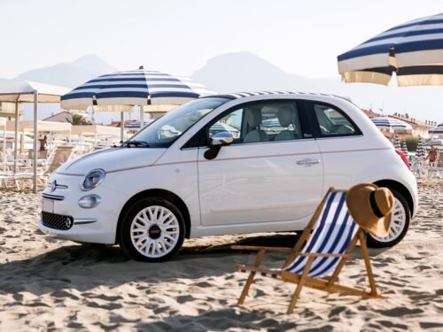 This image shows a Car in the beach Car rental Heraklion Crete